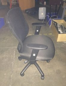 Used Black Mesh Lumbar Office Chair