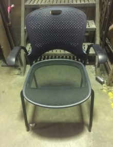 Used Black Mesh Meeting Chairs