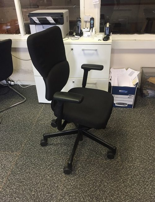 Used Black Steelcase Let's B Ergonomic Office Chairs