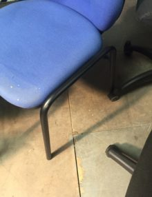 Used Blue Operator Visitor Chair Set