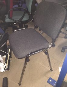 Used Charcoal Conference Chairs