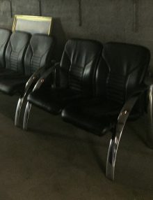Used Leather 2 Seater Bench