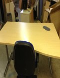 Used Maple 1600mm Wave Desks