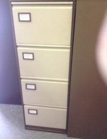used metal 4 Drawer filing cabinets