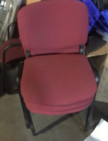 Used Red Stackable Conference Chairs