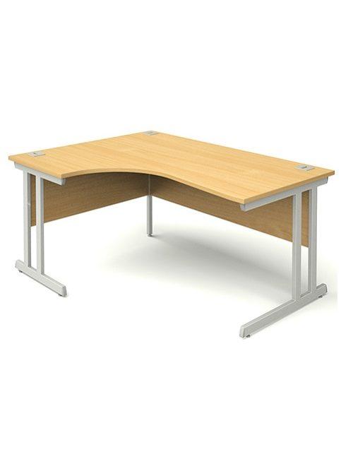 Used Stripe XL Beech Radial Desks